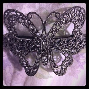 Silver Butterfly Clip